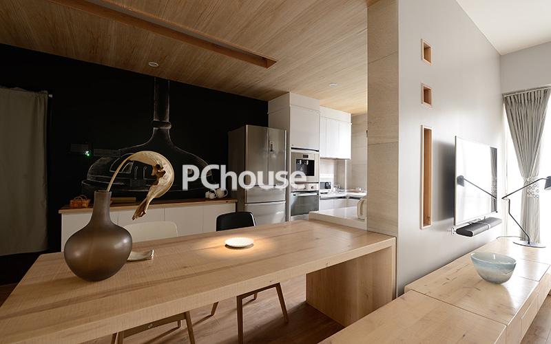 自然闲适原木空间_设计会客厅设计榜样_pchouse太平洋图片