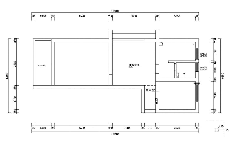 业主提供的原始户型图与平面