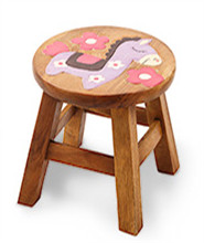 可爱图案小圆凳