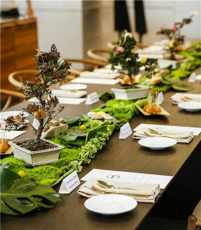 轻食主义餐桌布置