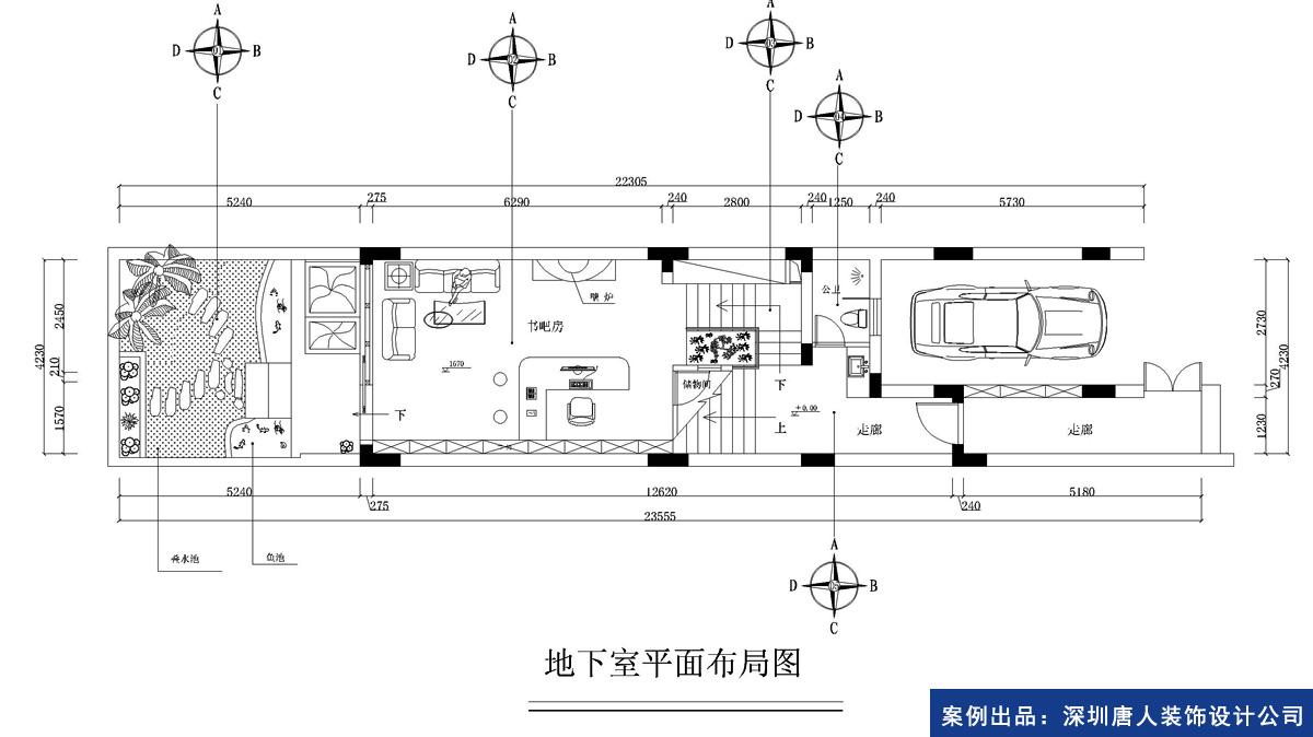 地下室平面图 (1200x674)-主卧平面图图片