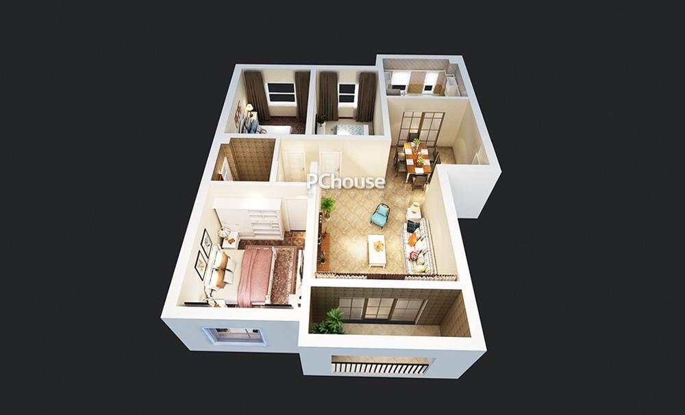 设计师将简约的家具,环保的材料与人性化的设计,融入到本案例中,温馨