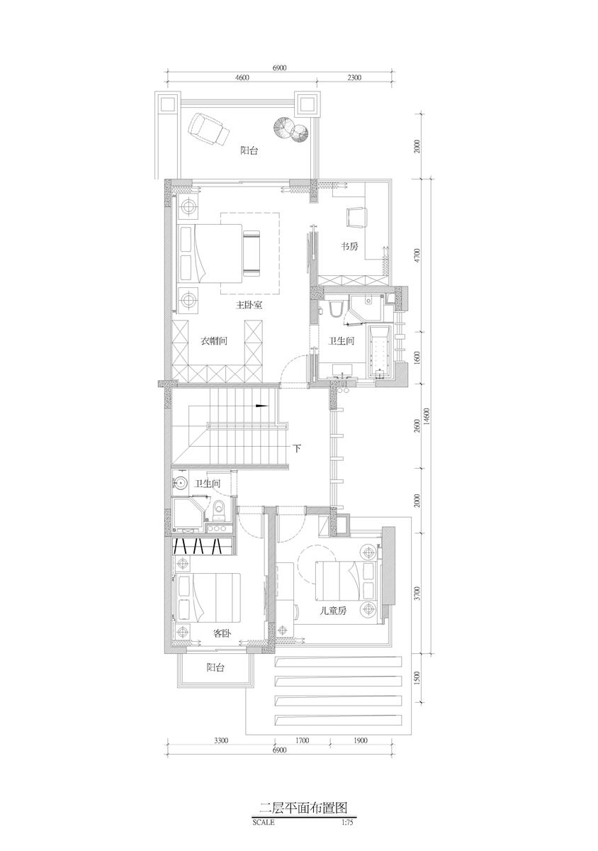 现代简易欧式别墅平面图