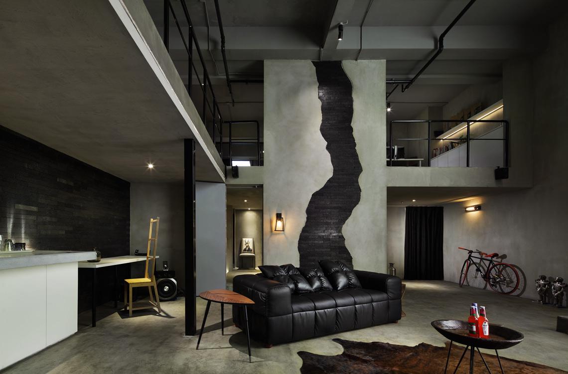 创意十足的背景墙设计令人惊叹浓烈硬朗的工业风格图片