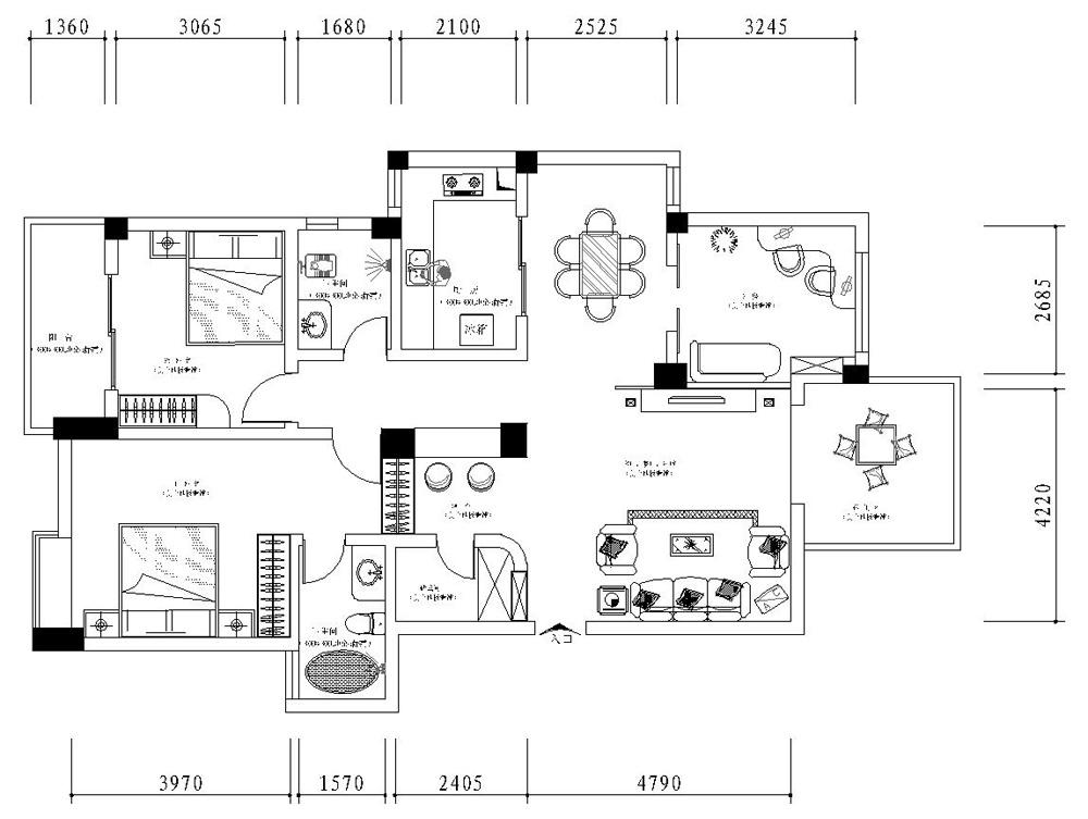 200平米房子平面图 200平方米的房子平面图