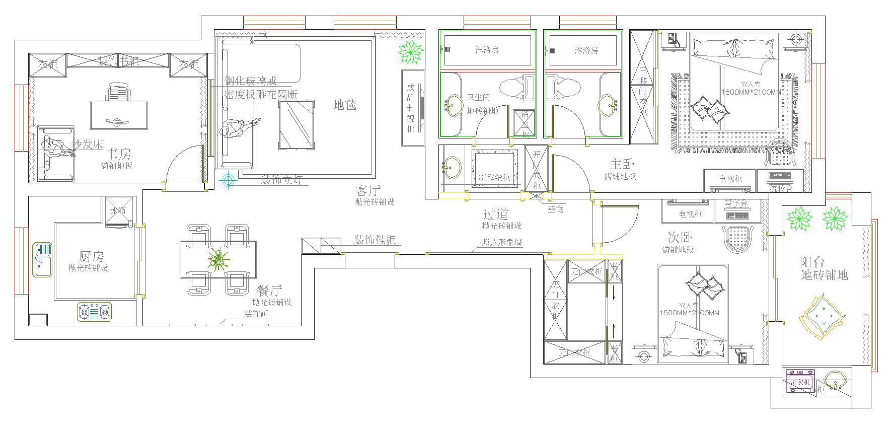 玄关参考效果图 方案二:由于方案二的客厅沙发正对入门,所以就做了一个隔断和半高的鞋柜,同时地面也做了一个划分的处理。比方案更为大气,相对的预算也比较多一点哦,进门的右手边设计一组照片墙,展示收纳功能兼备。