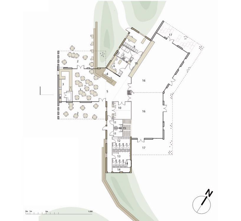 中心建筑平面图