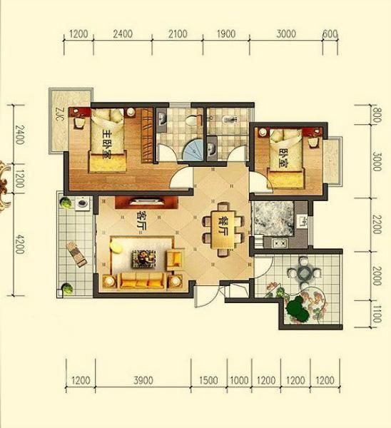 PART 3:儿童房设计    原始户型分析:   1、儿童房位于房子的东北角,是通风采光较好的一个房间。   2、面积较小,刚好能容纳儿童床及儿童家具,配置合理。   听听业主的需求:   1、儿童房要做得更有特色,简约的美式风格,天蓝的色调,但蓝色不要太多。   2、要为孩子设置专用的书桌,位置要能得到最优越的光线。    如何设计:   1、因书桌靠近窗边墙角光线不足,书桌与床对调,调整阅读区域的光线。   2、单人儿童床静静地呆在窗边,孩子睡在这里可吸收充足的阳光,利于成长。    给业主的设