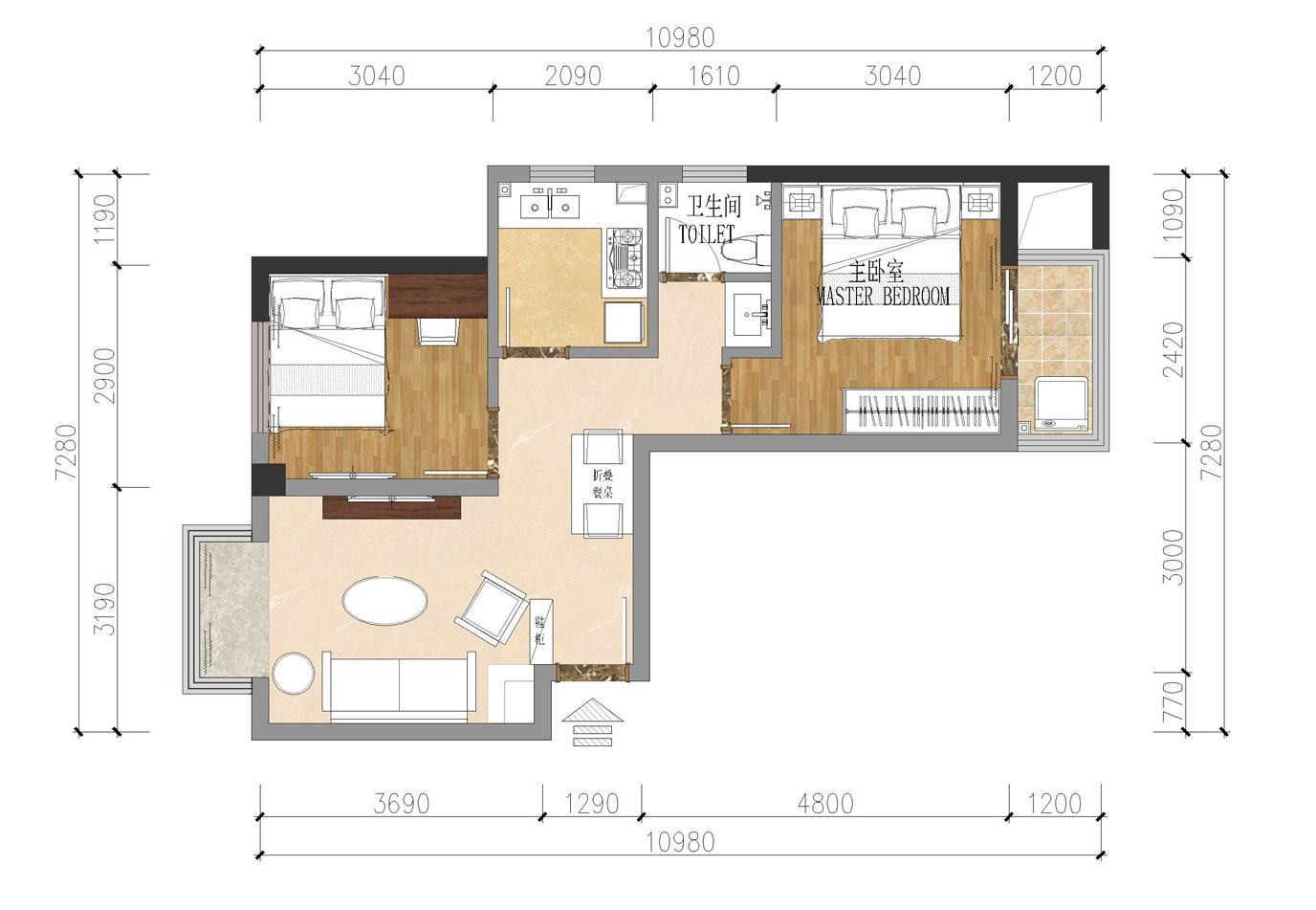 马思设计提供的平面设计图