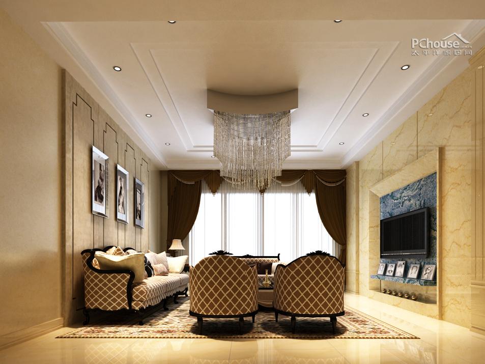 情迷浪漫紫色 117平简欧风格婚房设计