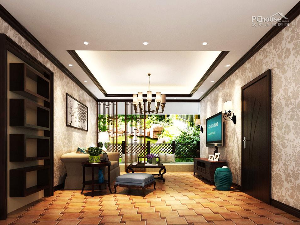 发挥空间最大值 73平现代中式婚房设计