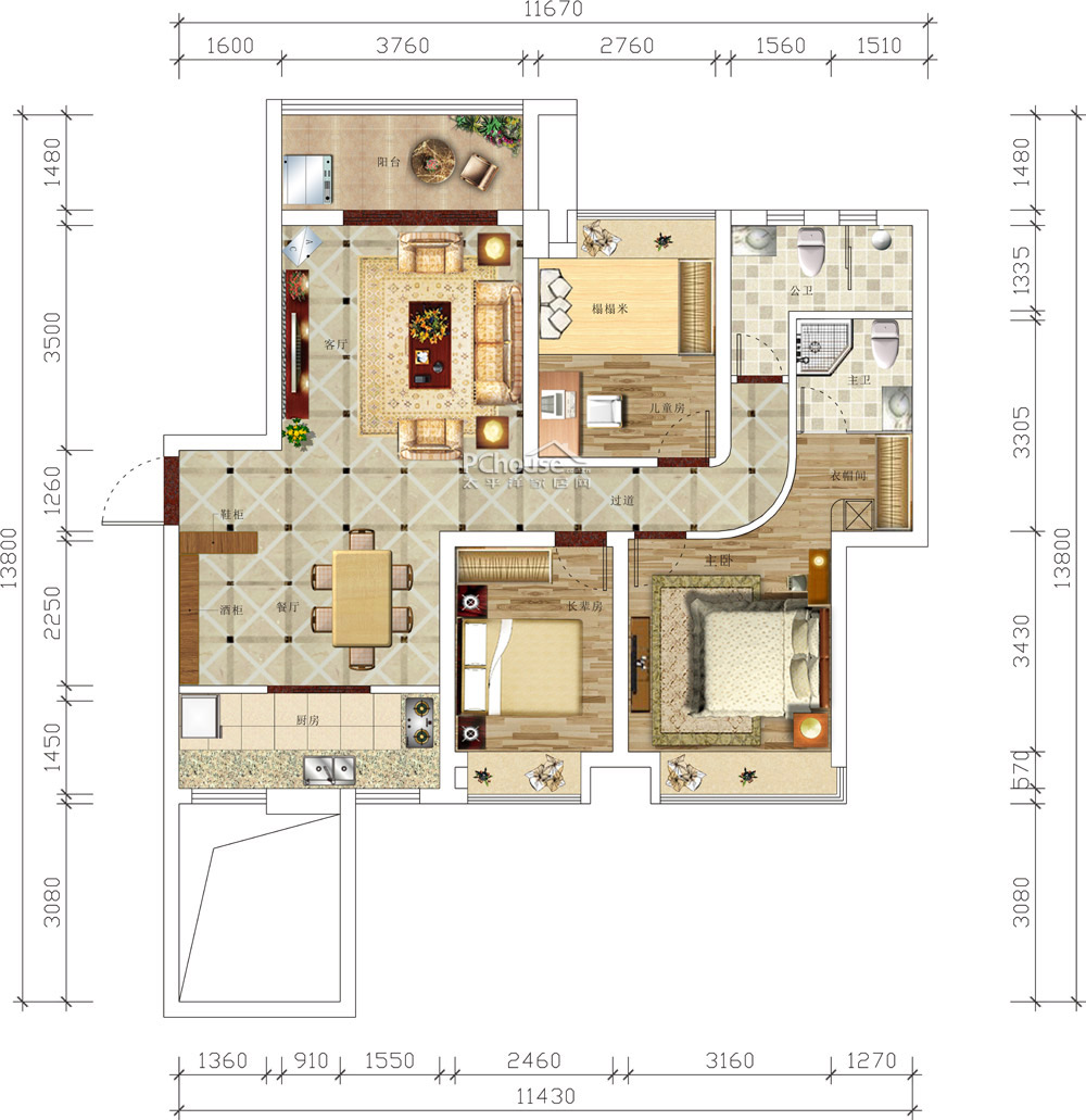 冷叶玲设计师提供的平面设计图