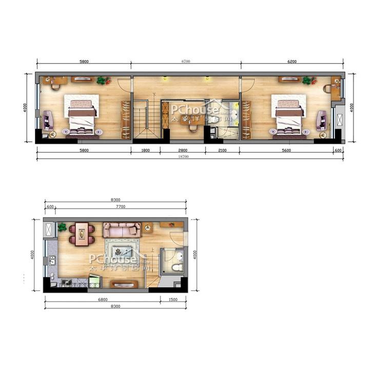108平方长方形房子设计图分享展示