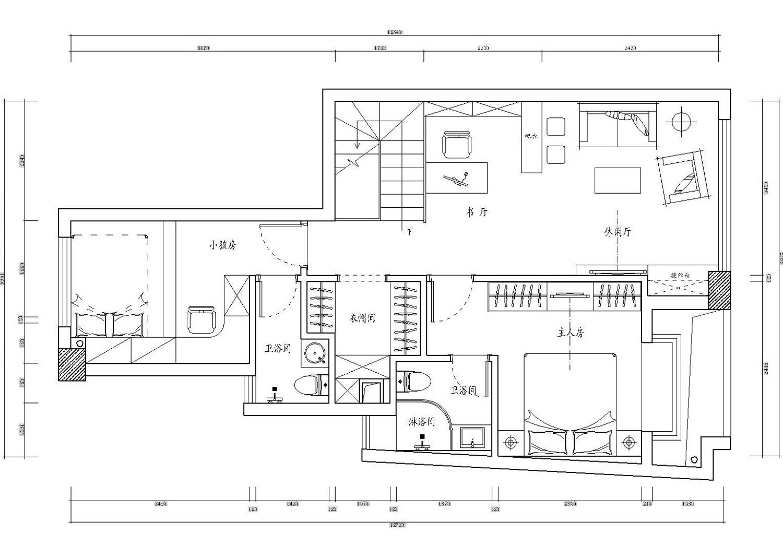 二楼平面设计图(点击查看大图)