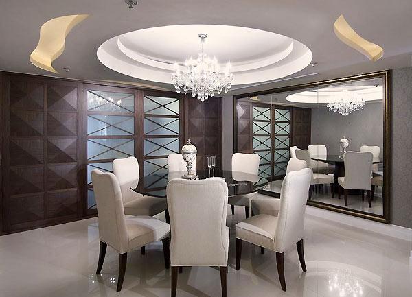椭圆形吊顶 天花板以椭圆型的造型巧妙虚化