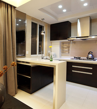 厨房/餐厅隔断吧台设计