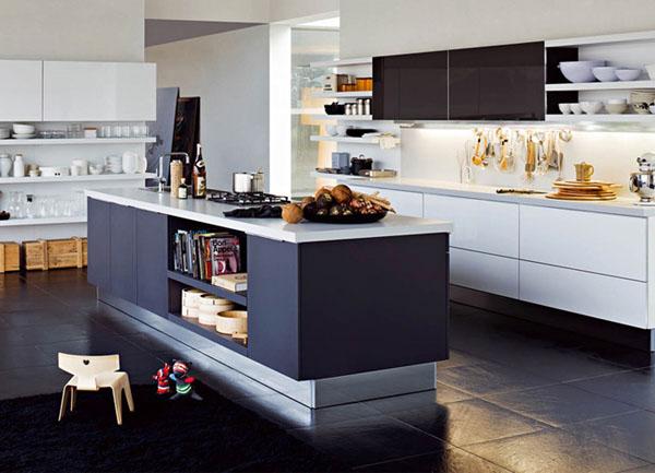 解决办法:半岛吧台 独立岛设计 岛型厨房是开放式厨房的典型式之一