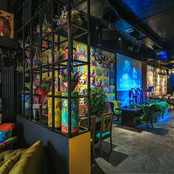 波普风艺术在敦煌火锅餐厅_设计会客厅设计榜样__家居