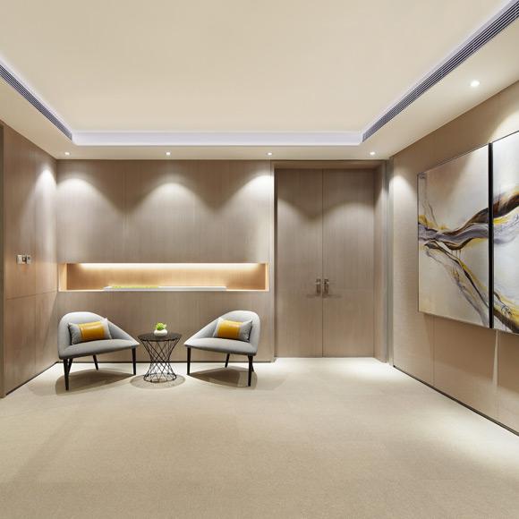 世界500强美的地产总部办公室设计_设计会客厅设计