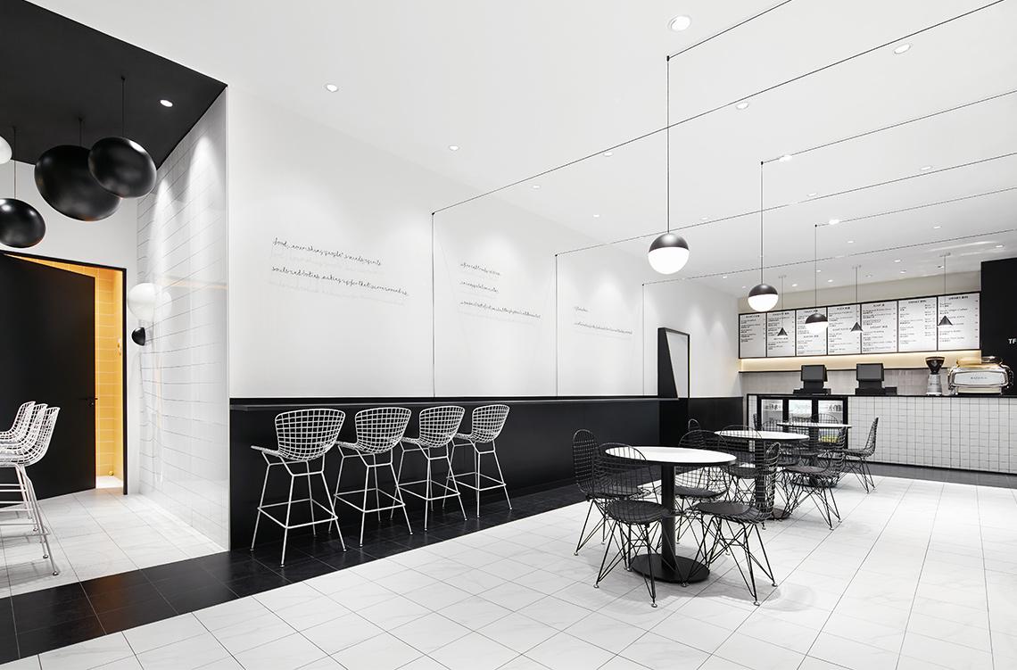手绘餐厅门面黑白