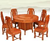 索格东阳红木非洲缅甸花梨木餐桌
