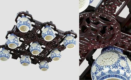 糖果明清古典陶瓷吊灯