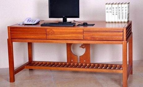 一品木阁中式实木书桌