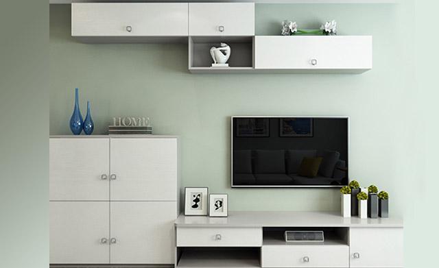 电视柜包含了立柜,地柜和吊柜三大件