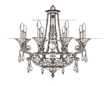 一款灯饰的设计我们是要通过 设计草图,上色,cad图,样板四个步骤