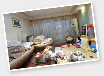 宜家沙发_巧妙改造,让客厅成为三代同堂家庭共享欢乐的地方