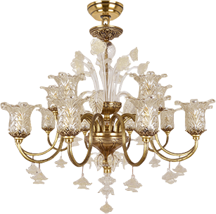 诺克照明 水晶雕花全铜吊灯