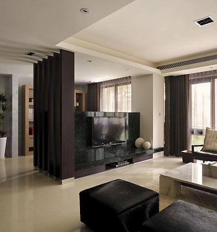 客厅矮墙隔断_大户型更实用 3招搞定电视背景墙设计